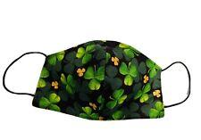 New St. Patrick's Shamrocks face masks double layer cotton fabric