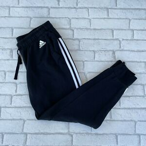 Adidas Women's Sweat Pants - Size 12-14 Medium - Black Bottoms Trousers Joggers