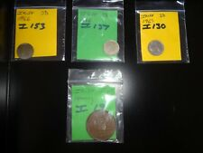 4 OLD IRISH COINS  PENNY /  THREEPENCE  BULK JOB LOT     (T10)