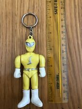 Power Rangers Yellow Ranger Key Chain 3.5? ~ Vintage 1990s