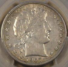 1907-S Barber Half Dollar PCGS AU50 Tough,Tough coin in AU