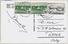 ICELAND -  POSTAL HISTORY:  Postcard to ROME