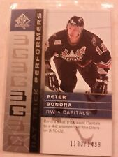2002-03 SP Authentic Hat Trick Performers 1193/1499 Peter Bondra Card 105