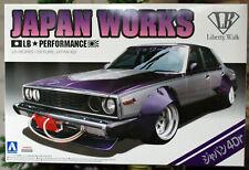 Aoshima 009802 Nissan Skyline GT 4dr Japan Works  LB works 1:24 JDM #01