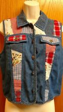 Koret City Blues denim vest size petite medium