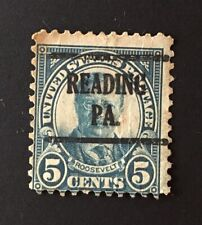 Reading, Pennsylvania Precancel - 5 cents Roosevelt (U.S. #637) PA