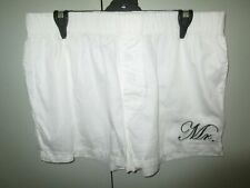 Mens Peter Alexander white Mr shorts Size L
