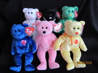 TY BEANIE BABIES BEARS ASIA PACIFIC EXCLUSIVE FLOWER SERIES ALL SIX - MINT