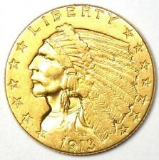 1913 Indian Gold Quarter Eagle $2.50 Coin - AU Details - Rare Gold Coin!