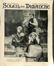Fleurs de la Toussaint Tableau de Duchâteau peintre ILLUSTRATION 1903