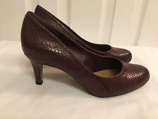 Clarks Ladies Arista Abe Burgundy Court Shoes Size UK 4 D New