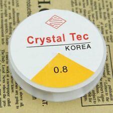 2 x 10 metre 0.8 clear crystal Tec clear beading elastic , jewellery diy craft