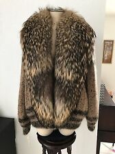 Ernst Strauss Fox Fur Sweater Coat Size M