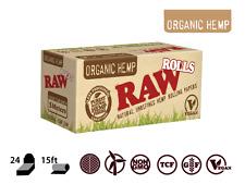 Raw Organic Rolls Hemp Rips 5 Meter Cigarette Smoking Rolling Papers 1 3 6 12 24