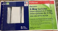 Leviton Decora 15 Amp 3-Way Switch, White (5-Pack)