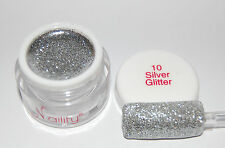Color Gel UV/CCFL/LED  7ml  Silver Glitter n°10 Naility  USA gel de couleurs