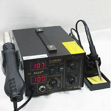 SAIKE 852D+ Iron Soldering Solder Hot Air Gun 2in1 Rework Station 220V +Gift