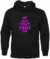 Keep Calm And Trot On Funny Hoodie Horse Riding Unisex Horse Accessories