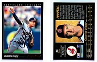 Charles Nagy Signed 1993 Pinnacle #65 Card Cleveland Indians Auto Autograph