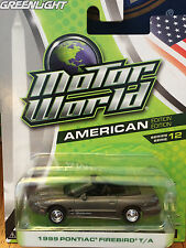 Greenlight MOTOR WORLD  1999 Pontiac Firebird  T/A   silver