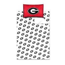 Northwest Nor-1col820000029ret Georgia Bulldogs NCAA Twin Sheet Set