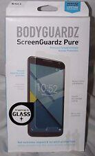 BodyGuardz ScreenGuardz Pure for Nexus 6 Tempered Glass Screen Protection - New
