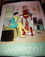 Weezer Promo Poster Music Cartoon Superheroes