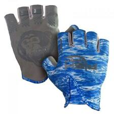 Fish Monkey Stubby Guide Glove - Blue Water Camo (Size XL)