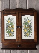 """Vintage Wood Wall Countertop Spice Cabinet 14"""" X 11"""""""