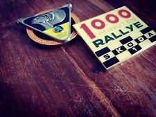 Rally Conjunto de Regalo para Skoda Parrilla Insignias - 2 Vintage Skoda Parrilla Insignia