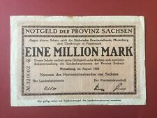 Merseburg, Provinz Sachsen, 1 Million Mark, Prägestempel, August 1923