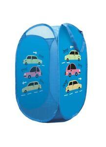 Cars Pop Tidy Toy Box Chest Storage Kids Childrens Bedroom Nursery Portable