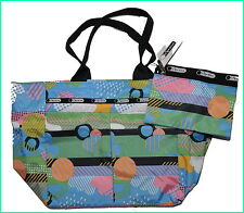 New and Authentic LeSportsac Medium Tribeca Tote Multi-Color Style #Weather