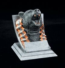 "Bear, 4"" tall Resin School Mascot Trophy, Free Engraving"