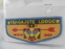 BOY SCOUTS O.A. LODGE 247 TAHGAJUTE BLUE BORDER W/FDLs TWILL MESH BACK   ROA1125
