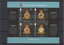 Gibraltar 2012 MNH RAF Squadrons I 4v Sheet Royal Air Force Emblems Military