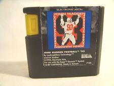 John Madden Football '93 (Sega Genesis, 1993)  game only