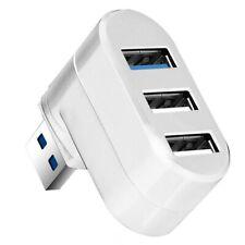 Mini 3 Port USB 3.0 2.0 Rotating Splitter Adapter Hub For PC Laptop Notebook Mac