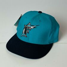 Vtg Florida Marlins New Era Fitted Hat Cap 7 3/8 MLB Wool 5950 Authentic NWT