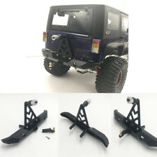 For 1/10 RC Crawler Jeep Wrangler Alloy Rear Bumper with Spare Tire Rack