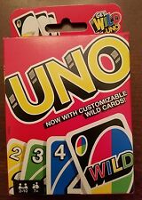 Mattel UNO Card Game Now w/ Customizable Wild Cards - You Choose the Rules! NEW!