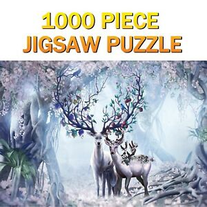 Jigsaw Puzzles Reindeer 1000 Pieces Educational Children Adult Kids Games Gifts