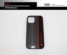 Audi Sport Smartphonecase iPhone 12 12 Pro 3222100200 Grau Rot Carbonoptik