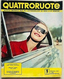 Quattroruote Settembre 1957 Ford Consul Mark II Fiat 500 Olympia SPA Automobili