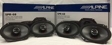 "2 X ALPINE SPR-68 6X8"" & 5X7"" 600W COAXIAL CAR TYPE R DOOR SPEAKERS SET 2 PAIRS"