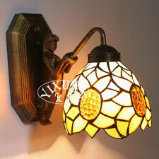 Tiffany Style Murmaid Sconce Sunflower Stained Glass Wall Lamp E27 Light Fixture