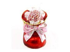 Red Rhinestone & Metal Santa Shoe Jewelry Trinket Box ~ Gift Idea!