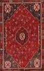 Vintage Geometric Abadeh Oriental Area Rug Tribal Hand-knotted Wool Carpet 6'x9'