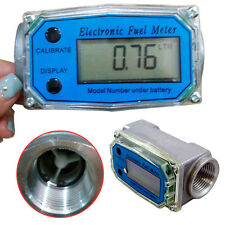 "1"" 200L/Min Turbine Digital Diesel Fuel Flow Meter Oval Gear Flow Gauge BSPT/NPT"