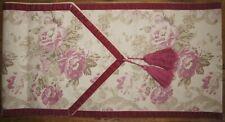 Laura Ashley Shabby Chic Sorbonne Pink Floral Linen & Velvet Table Runner